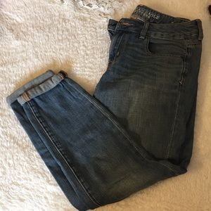 AE boyfriend fit ankle fit jeans